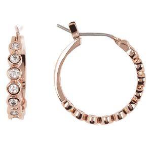 Kate Spade Circle CubicZirconia Rose Gold Earrings